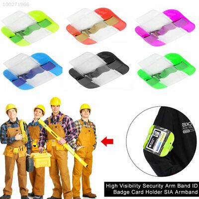 5EFD High Visibility Security Arm Band ID Badge Card Holder SIA Armband
