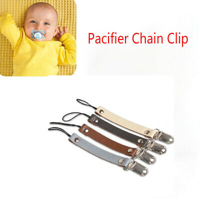 Gifts Baby Boy Girl Nipple Holder Teether Strap Soother Chain Pacifier Clips