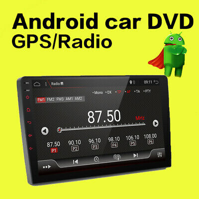 "10.1"" Android 8.1 Double 2 Din In Dash Car GPS Navigation Stereo Radio OBD Cam"
