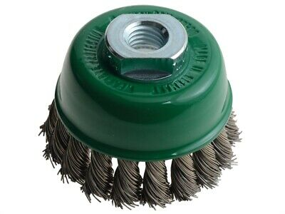 Lessmann LES482817 Knot Cup Brush 65mm M14 x 20 x 0.50 Stainless Steel Wire
