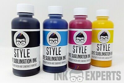 100ml Ink Experts 'Subli-Style' Sublimation Ink 4 Colour for Sawgrass Printer