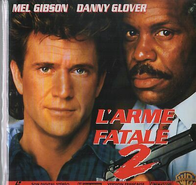 ARME FATALE 2 (L') WS VF PAL RM LASERDISC Mel Gibson, Danny Glover