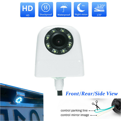 170° Car Front/Side/Rear View Backup Camera Reverse LED Night Vision Color White