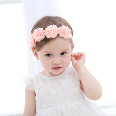 Girls Kids Baby Headband Head Band Hair Accessories Flower for Party Photo SW
