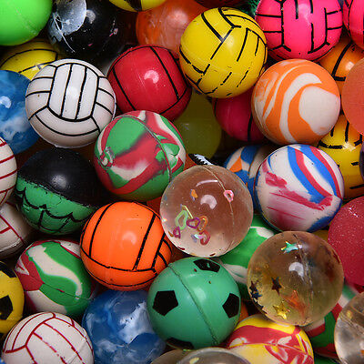 10x Colorful 27mm Bouncy Jet Balls Kids Toys For Pinata Loots Party Bags ILDU