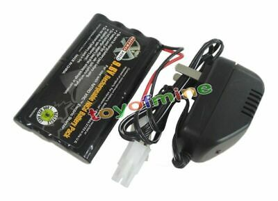 9.6V 2400mAh Ni-cd Rechargeable Battery Pack + Main Charger Tamiya Connector