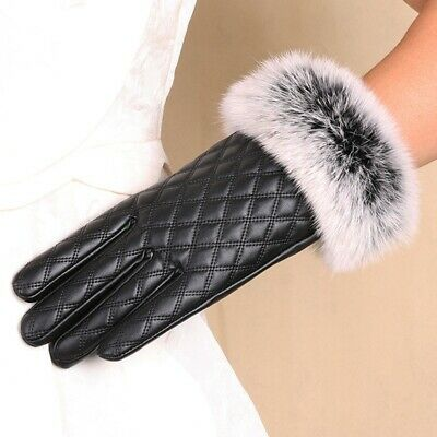 New Women Winter Gloves Comfy Wrist Length Mittens Thicken Full Fingers Gloves