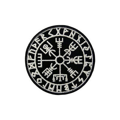 Embroidery Viking Vegvisir Compass Tactical Morale Hook Loop Patch #V0859
