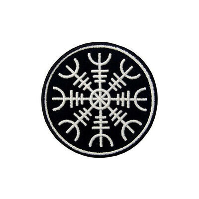 Embroidery Viking Vegvisir Compass Tactical Morale Hook Loop Patch armband Badge