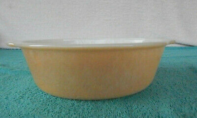 Vintage Oval Fire King Peach Luster Casserole Dish 1 1/2 Qt #467 REVERSE USA