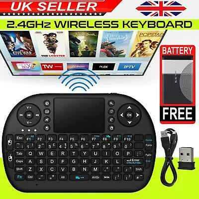Smart Slim Mini Wireless Keyboard With Touchpad Mouse 2 PC Laptop Android TV BOX