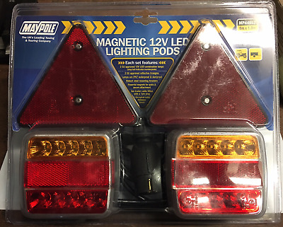 Magnetic Led Lighting Stop Tail Indicator Number Plate Lamp 12V Mp44952 Maypole