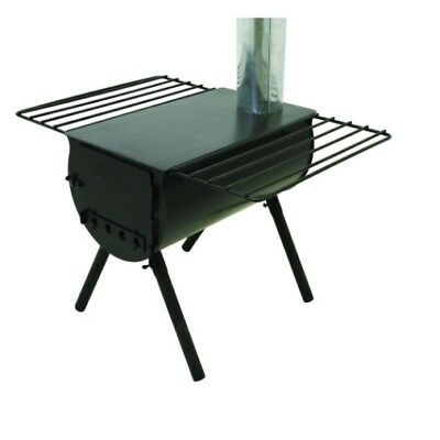 Cylinder Stove Alpine Heavy Duty Steel Camping Cooking Damper Internal Log Grate