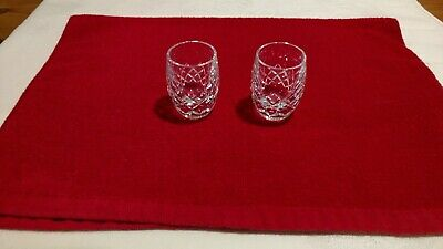 Waterford crystal shot glasses. Lismore pattern. Lot of 2. Excellent condition.