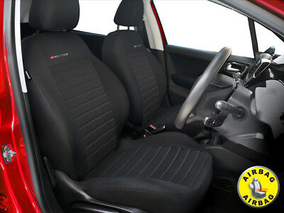 Car seat covers front seats fit Skoda Rapid - charcoal grey pair #4