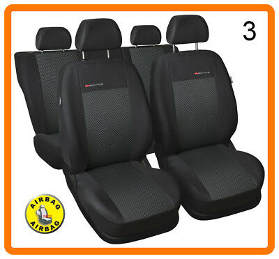 CAR SEAT COVERS full set fit Nissan Qashqai 2013-On charcoal grey