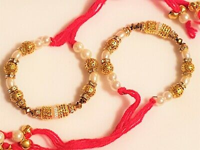 SB1043 Gold and Silver//White, Indian Wedding Hand//Arm Ghana/'s pair of 2 Red