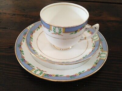 Royal Albert Crown China Trio in Orient Pattern - Rare 1950s