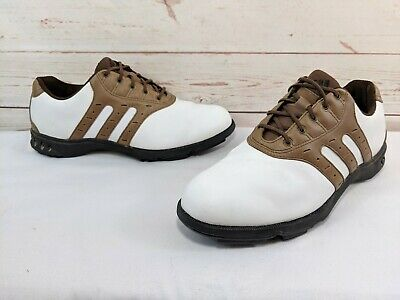 a9889bd46da ADIDAS Z-TRAXION MEN S Saddle Golf Shoes Cleats - White   Brown ...