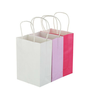 10 Colors Party Bags Gift Bag Kraft Paper  With Handle Recyclable Shop Loot Bag