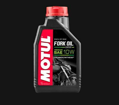 NEW Motul 10W FORK OIL Expert MED Road & Off Technosynthese Suspension 1L 450095