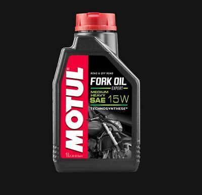 NEW Motul 15W FORK OIL Expert M/H Road & Off Technosynthese Suspension 1L 450096