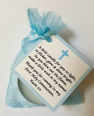 FIRST HOLY COMMUNION CANDLE FAVOURS GIFTS - GUEST FAVOURS Christening / Baptism
