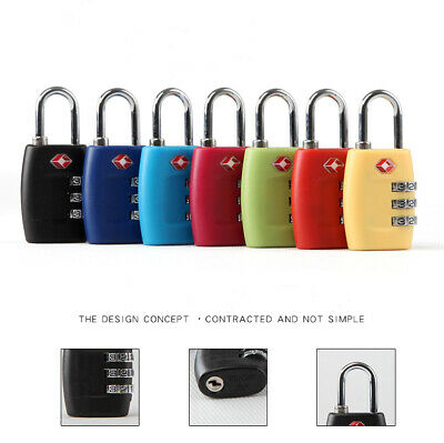 3 Digit Combination TSA Approve Travel Suitcase Luggage Bag Lock Padlock Reset
