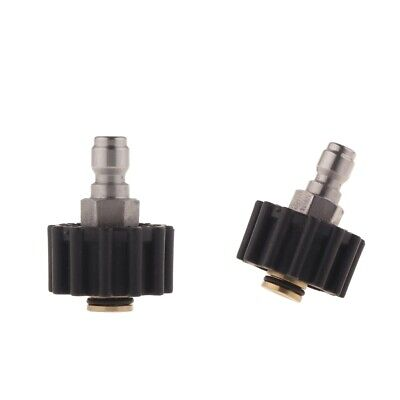 2xQuick Connect Design Multiple Degrees Washer Spray Nozzle 14 turn+15 Turn