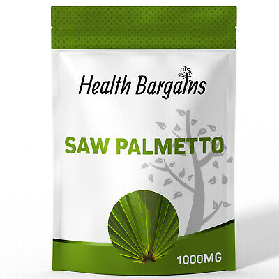 Saw Palmetto 1000mg, 90 Tablets for 2.99, made in the UK,  HIGH STRENGTH Quality