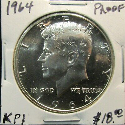 1964 Kennedy Proof Half Dollar With Free Shipping!