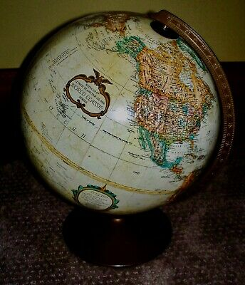 Vintage Replogle 12 Inch World Classic Series Globe Raised Relief Map L. TOLMAN