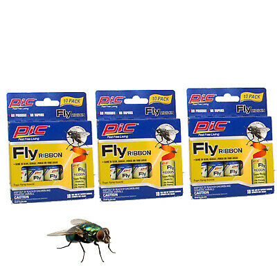 30 Piece, Insect Bug Fly Glue Paper Catcher, Trap Ribbon Tape Strip Sticky Flies