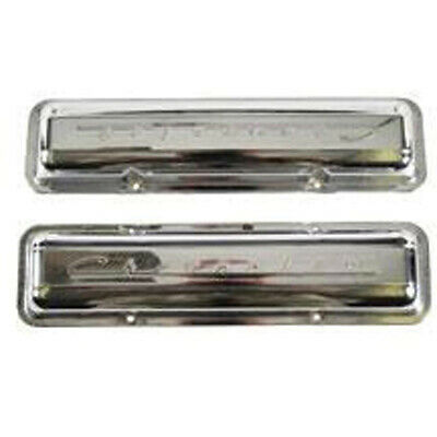Camaro Valve Covers, With Chevrolet Script, Chrome, 1967 33-242908-1