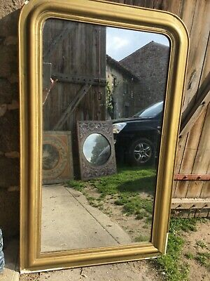 Large Antique French  Louis style mirror