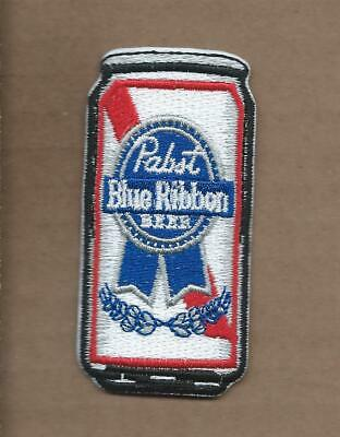 New 1 1/2 X 3 1/8 Inch Pabst Blue Ribbon Can Iron On Patch Free Shipping