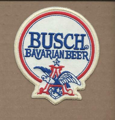 New 3 X 3 1/2 Inch Busch Beer Iron On Patch Free Shipping