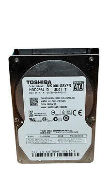 "Toshiba SATA MK1661GSYN F VL01 B 160GB 16MB 2.5/"" Wiped Formatted Tested"
