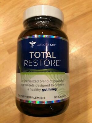NEW Total Restore Dr Gundry MD Dietary Supplement Gut Lining Healing 90 Capsules