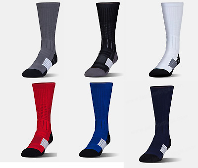 New Under Armour Men's Unrivaled Long Crew Socks - Adult Large