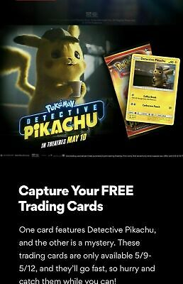 AMC LIMITED Pokemon Detective Pikachu Movie Trading Card PROMO PACK - 2019 NEW
