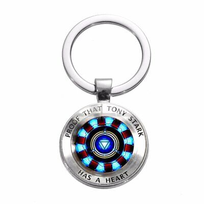 Iron Man Tony Stark Keychain Proof That Tony Stark Has A Heart Men Avengers 4