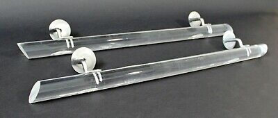 Mid Century Modern Clear Lucite Acrylic Pair of Banisters Hollis Jones Era 1970s