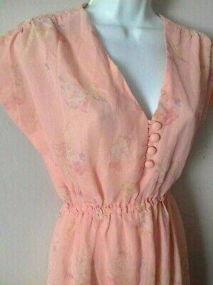 True Vintage 1930s 1940s Dress Deco Downton Peaky Blinders pink floral Film TV
