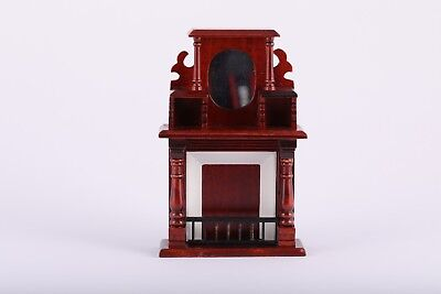 1:12 Scale Dollhouse Mahogany Furniture Fireplace Living Room