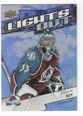 2018-19 Upper Deck Overtime Patrick Roy Lights Out #Lo-15