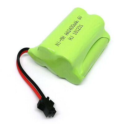 Rechargeable 6V 2400mAh Ni-MH AA Battery Pack With SM 2P Plug For RC Toys