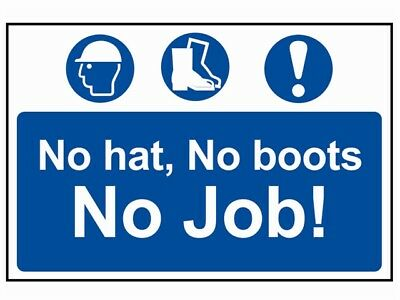 Scan SCA4009 No Hat No Stiefel No Job - PVC 600mm X 400mm