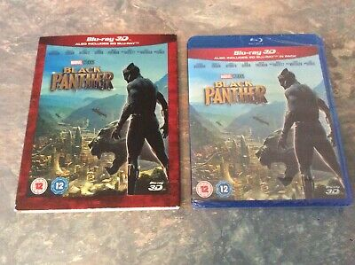 Black Panther 3D Blu ray. With slipcover. New & sealed.