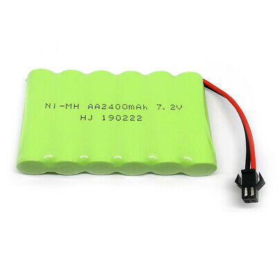7.2V 2400mAh Ni-MH Rechargeable AA Battery Pack With SM 2P Plug For RC Toys